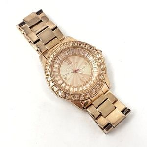 Betsey Johnson | Gold Water Resistant Womens Watch